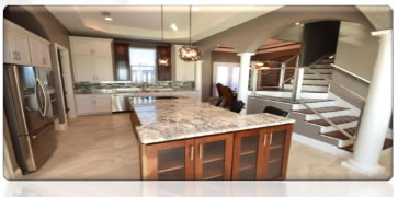 Large Beautiful Kitchen Island